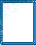 πλαίσιο snowfake Απεικόνιση αποθεμάτων