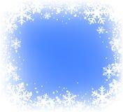 πλαίσιο snowfkakes Στοκ Εικόνες