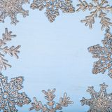 Πλαίσιο snowflakes Χριστουγέννων Στοκ Εικόνες