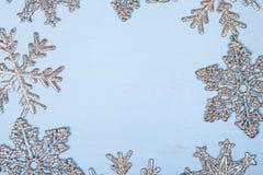 Πλαίσιο snowflakes Χριστουγέννων Στοκ φωτογραφία με δικαίωμα ελεύθερης χρήσης