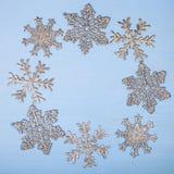 Πλαίσιο snowflakes Χριστουγέννων Στοκ εικόνες με δικαίωμα ελεύθερης χρήσης
