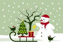 πλαισιωμένη σκηνή διακοπών ανασκόπησης Χριστούγεννα Στοκ εικόνες με δικαίωμα ελεύθερης χρήσης