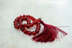 Πλαισιωμένο κόκκινο rosary Στοκ Εικόνα