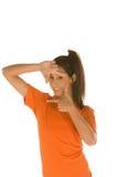 πλαισιώνοντας γυναίκα πρ& Στοκ φωτογραφία με δικαίωμα ελεύθερης χρήσης