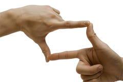 πλαισιώνοντας χέρι Στοκ Εικόνες