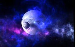 Πλανήτες και γαλαξίες, ταπετσαρία επιστημονικής φαντασίας Ομορφιά του βαθιού διαστήματος διανυσματική απεικόνιση