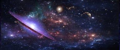 Πλανήτες και γαλαξίες, ταπετσαρία επιστημονικής φαντασίας Ομορφιά του βαθιού διαστήματος στοκ φωτογραφία με δικαίωμα ελεύθερης χρήσης