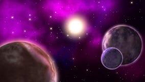 Πλανήτες μυστηρίου βρόχος διανυσματική απεικόνιση