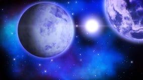 Πλανήτες πάγου βρόχος διανυσματική απεικόνιση