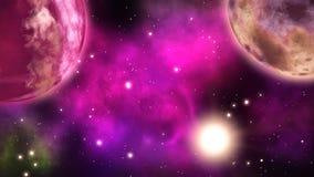 Πλανήτες στο διάστημα βρόχος απεικόνιση αποθεμάτων