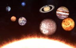 Πλανήτες του ηλιακού συστήματος σε μια πλευρά του ήλιου Τα στοιχεία της εικόνας εφοδιάζονται από τη NASA απεικόνιση αποθεμάτων