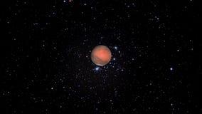 Πλανήτης Άρης αργά που πλησιάζει ελεύθερη απεικόνιση δικαιώματος