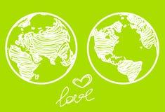πλανήτης αγάπης Στοκ Εικόνα