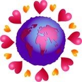 πλανήτης αγάπης διανυσματική απεικόνιση