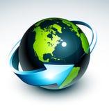 πλανήτης γήινης απεικόνισ&eta Στοκ φωτογραφία με δικαίωμα ελεύθερης χρήσης