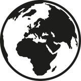 Πλανήτης Γη Ευρώπη και Αφρική διανυσματική απεικόνιση