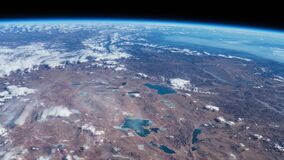 Πλανήτης Γη που βλέπει από το ISS Πλανήτης Γη που παρατηρείται όμορφος από το διάστημα Γη πυροβολισμού χρονικού σφάλματος της NAS