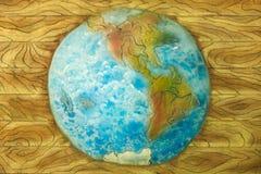 Πλανήτης Γη bas-ανακούφισης Στοκ φωτογραφία με δικαίωμα ελεύθερης χρήσης