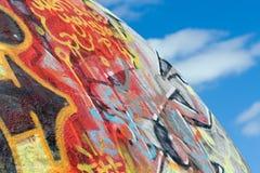πλανήτης γκράφιτι Στοκ Εικόνα