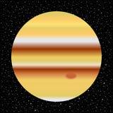 Πλανήτης Δίας και έναστρος ουρανός ελεύθερη απεικόνιση δικαιώματος