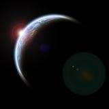Πλανήτης με τον ήλιο αύξησης Στοκ Εικόνα