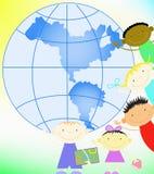 πλανήτης παιδιών διανυσματική απεικόνιση