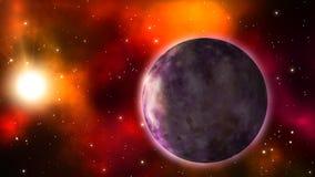Πλανήτης που περιστρέφεται στο διάστημα Loopable απεικόνιση αποθεμάτων