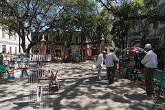 Πλανόδιοι πωλητές και μουσικοί στο πάρκο Madre στο ιστορικό κέντρο του Μέριντα, Yucatan, Μεξικό Στοκ εικόνες με δικαίωμα ελεύθερης χρήσης