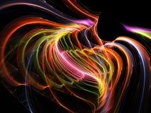 Πλασματικό fractal χρώματος στο Μαύρο Στοκ φωτογραφία με δικαίωμα ελεύθερης χρήσης