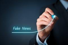 Πλαστή έννοια ειδήσεων Στοκ εικόνα με δικαίωμα ελεύθερης χρήσης