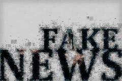 Πλαστή έννοια ειδήσεων Στοκ Φωτογραφίες