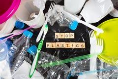 Πλαστικά για την ανακύκλωση Στοκ φωτογραφία με δικαίωμα ελεύθερης χρήσης