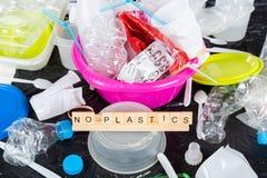 Πλαστικά για την ανακύκλωση Στοκ Εικόνες