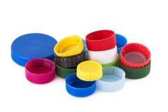 Πλαστικά καλύμματα μπουκαλιών χρώματος Στοκ φωτογραφία με δικαίωμα ελεύθερης χρήσης