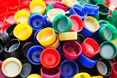 Πλαστικά καπάκια Στοκ φωτογραφία με δικαίωμα ελεύθερης χρήσης
