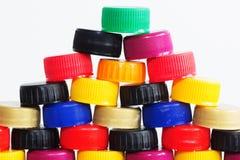 Πλαστικά καπάκια Στοκ Φωτογραφία