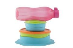 Πλαστικά κιβώτια αποθήκευσης Στοκ Εικόνα
