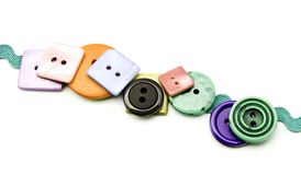 Πλαστικά κουμπιά Στοκ Φωτογραφία