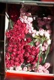 Πλαστικά πλαστά ζωηρόχρωμα λουλούδια λουλουδιών Στοκ Φωτογραφίες