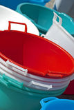 πλαστικές σκάφες Στοκ Εικόνες