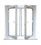 πλαστικό άσπρο παράθυρο Στοκ εικόνα με δικαίωμα ελεύθερης χρήσης