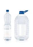 πλαστικό δύο μπουκαλιών στοκ εικόνα με δικαίωμα ελεύθερης χρήσης