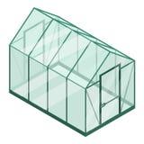 Πλαστικό εικονίδιο θερμοκηπίων, isometric ύφος διανυσματική απεικόνιση