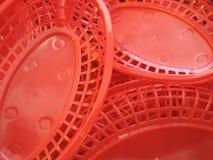 Πλαστικό καλάθι τροφίμων στοκ εικόνες