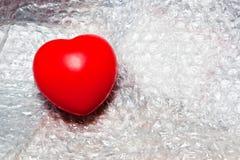 πλαστικό καρδιών αφρού Στοκ Εικόνες