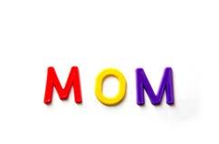 Πλαστικό κείμενο mom Στοκ Εικόνα
