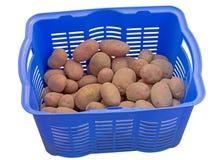 Πλαστικό κιβώτιο με τις πατάτες στοκ φωτογραφίες με δικαίωμα ελεύθερης χρήσης