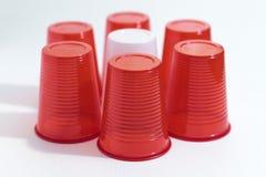 πλαστικό κόκκινο λευκό φ&l Στοκ φωτογραφία με δικαίωμα ελεύθερης χρήσης