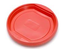 πλαστικό κόκκινο πιάτων Στοκ φωτογραφία με δικαίωμα ελεύθερης χρήσης