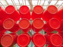 πλαστικό κόκκινο φλυτζα&n Στοκ φωτογραφίες με δικαίωμα ελεύθερης χρήσης